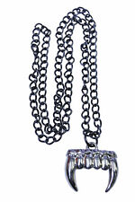 VAMPIRE FANG NECKLACE GOTHIC COSTUME JEWELRY ACCESSORY SA10051