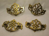 """4 vintage K01522  pull handles handle lot drawer drop pull 3"""" center to center"""