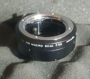 Minolta 1:1 Extension Tube for MD Macro 3.5/50mm - Clean NO Lens Caps