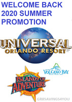 SAVE $900+ ON 4 TWO-DAY 2-PARK PLUS 1-DAY VOLCANO BAY UNIVERSAL STUDIOS TICKETS