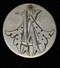 1875 Love Token Engraved AK KA silver Liberty Seated Dime 10c Ten Cents