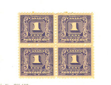 #7 Canada #J6 Mint Never Hinged Block Of Four Postage Due 1930-1932 Cat $90.00