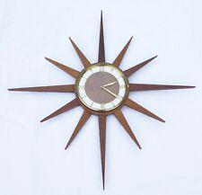 Original 1960s Starburst Junghans clock mid century retro Timber Teak Eames era
