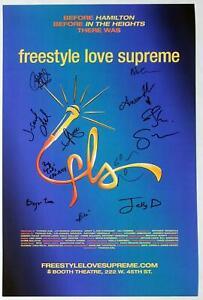 Lin-Manuel Miranda, Broadway Cast ++ Signed FREESTYLE LOVE SUPREME Poster