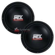 "Two (2) MTX Audio TN12-04 Car 12"" Terminator Series Single 4 ohm Subwoofers 800W"