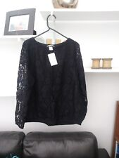 Ladies BNWT Very Trendy Black Lace Top by H&M Size M (12)