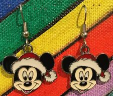 Mickey Santa Earrings Disney Surgical New Christmas
