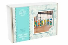 Peak Dale Silk Card Painting Kit - Country Set sunflower boat house pear tree