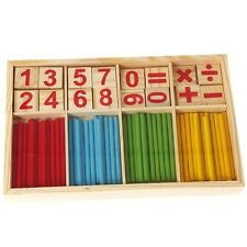 Preschool Wooden Montessori Mathematic Counting Sticks Children Kids Learn HD