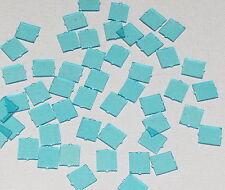 LEGO LOT OF 50 NEW TRANSPARENT LIGHT BLUE 1 X 2 X 2 FLAT FRONT WINDOWS PARTS