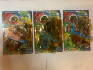 TMNT Mini Mutants lot -Tokka, Leonardo, Raphael COMPLETE ON CARD LOOK! READ DESC