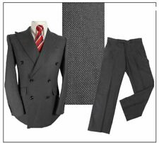 "M&S Sartorial mens Double Breasted 2 piece suit Ch38""S W34"" L31"" Grey Birdseye"