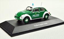 VW 1200 Käfer Polizei Deutschland Baujahr 1977 Maßstab 1:43 von Atlas