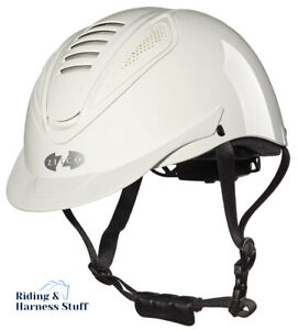 Zilco Oscar Sentry Carriage Driving Helmet Riding Hat  White