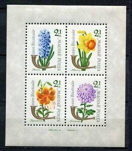 32063) Hungary 1963 MNH Flowers S/S Scott #B233b