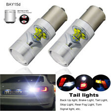 1157 Bay15d LED Brake/Stop/Tail/Backup Light Bulbs 6000K White High Power 80W