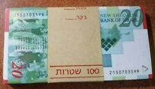 ISRAEL BUNDLE OF 100  BANKNOTES  20 SHEKEL 2001 year ,UNC,NOMINAL!