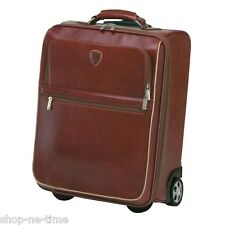 "Lamborghini Luxurious Takuda Leather Trolley Case,  18.5"" Carry On Bag - New"