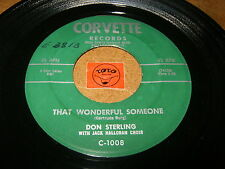 DON STERLING - THAT WONDERFUL SOMEONE   / LISTEN - BALLAD  ROCK N ROLL