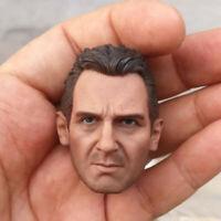 "Delicate Painting Hot 1/6 Scale Taken Liam Neeson Head Sculpt Fit 12"" Body"