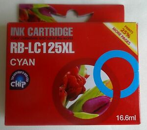 RB-LC125XL 16.6ml cyaan ink cartridge NIEUW cyan NEW BROTHER DCP MFC