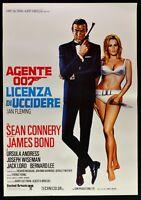Werbeplakat Lizenz Von zu Töten 007 Sean Connery Ursula Andress Dr.No Kino P10