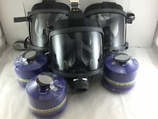 Scott/SEA Domestic Prep [3pak Gas Masks] w/3x Mestel NBC/CBRN Filters Exp:5/2022