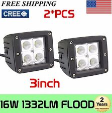 New listing 2X 3'inch 16W Cree Led Cube Pods Work Lights Flood Atv Suv Off Road Truck Jeep