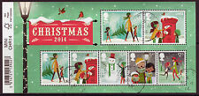GREAT BRITAIN 2014 CHRISTMAS MINIATURE SHEET FINE USED