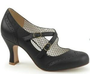 Black PinUp Couture Flapper shoes Size 5 (38) with box & bag. Worn once