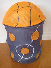 CHILDRENS BASKETBALL  POP UP TOY SPORTS STORAGE BIN LAUNDRY BAG
