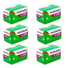 6x Fuji Fujifilm Fujicolor C200 35mm 135-36 Colour Print Film - Value Pack!
