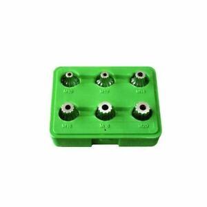 """6 Piece 1/2"""" Drive Tamper-Proof 12-Point Xzn Bit Sockets M10 M12 M14 M16 M18 M20"""