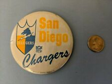 VINTAGE 1960's San Diego Chargers Football NFL Pinback Button Pin 3 1/2