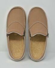 SPENCO SIESTA MULE Tan/White Canvas Orthotic Slip On Shoes Women's Size 9 NWOB
