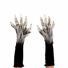 Silver Werewolf Beast Monster Demon Claws Hands Adult Halloween Costume Gloves