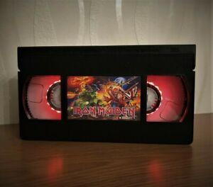 Iron Maiden VHS Night Light, Music, Rock, Horror Movie, Desk Lamp, Gift, Comedy