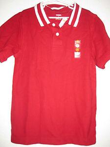 NWT Boys Gymboree Red White Stripe Polo Shirt Sz 7