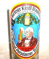 Kindl Berlin Potsdamer Stangenbier Potsdam Giant Deutsches Bier Glas