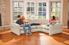 Inflatable Corner Sofa Camping Furniture Blow Up Air Bed Modern Lounge Den RV