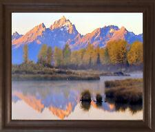 Grand Tetons Mountain & Lake Landscape Scenery Wall Art Decor Framed Picture