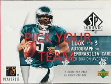 2005 Upper Deck SP Football Card Team Sets PICK YOUR TEAM FROM THE LIST