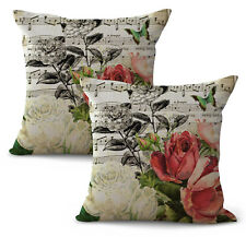 US Seller- set of 2 music notes rose flower replacement chair cushions indoor