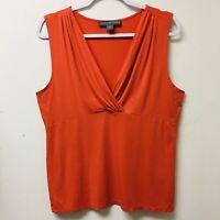 Josephine Chaus off white V-Neck Tank top Sleeveless blouse Women's Size Small