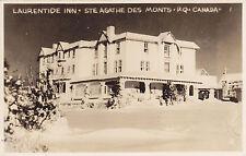 Laurentide Inn STE AGATHE DES MONTS Quebec Canada 1940s Real Photo Postcard
