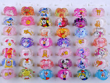 CHIC 20Pcs Wholesale Mixed Lots Cute Cartoon Children/Kids Resin Lucite Rings