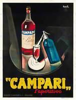 CAMPARI L'APERITIVO. 1926 ART PRINT POSTERHOME DECOR BB8063B