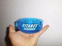 Ancien Cendrier Opalex Bleu Publicitaire Cigarette Gitanes Légères