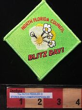 BSA FL STATE PATCH ~ NORTH FLORIDA COUNCIL POPCORN EXPLODING BLITZ DAY 62K3