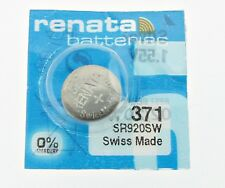 1 PCS Renata SR920SW 371 1.55V Silver Oxide Battery for Watch Swiss Made